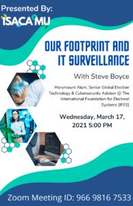 MUISG Update 2021 March 17th Event Flyer on IT Surveillance