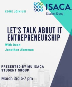 MUISG Update 2021 March 3rd event flyer on IT Entrepreneurship