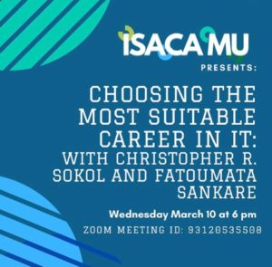 MUISG Update 2021 March 10th Event Flyer on Choosing an IT Career